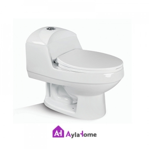 توالت فرنگی مروارید مدل الگانت 67 درجه دو