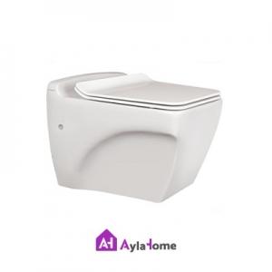 توالت فرنگی مروارید مدل وال هنگ کاتیا 56 درجه یک