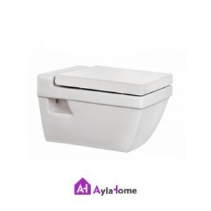 توالت فرنگی مروارید مدل وال هنگ سیلویا 55 درجه دو