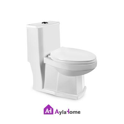 توالت فرنگی مروارید مدل رومینا 69 درجه یک